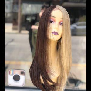Lacefront Wig half/Half Blonde/Brown 2019 Style